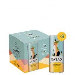 Gatão Vinho Branco Lata - Pack 3 Unidades